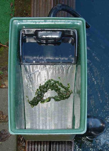 Wasserüberlauf mit 300 MIkron Siebbogenfilter