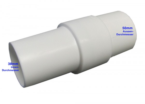 Adapter Ø38mm Muffe für Ø50mm Schläuche
