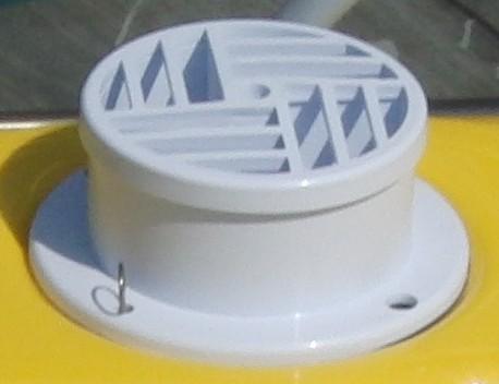 Propellerabdeckung mit Moosgummi und Splint