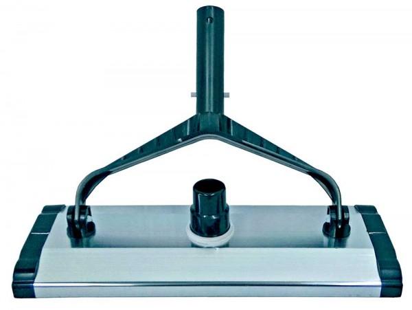 Aluminium Bodensauger 35cm breit auf Rollen mit Bürsten auf der Unterseite