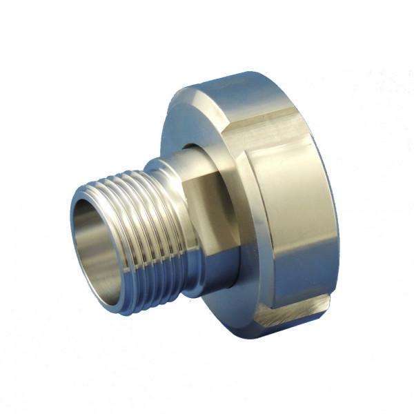 Edelstahl Adapter DIN 11850 IG zu 1 1/2 Zoll AG