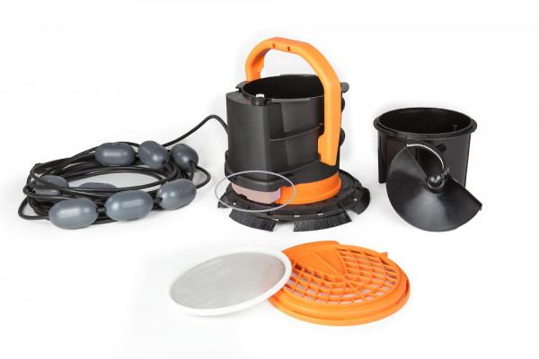 Bürstsauger TT-BS Plus im Set mit Roboterelektronik und Sensorik bereit für die Nachrüstung zum vollwertigen Roboter