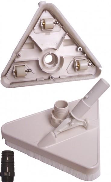 Dreieckbürste, Bodensauger «extra stabil» für Ø38mm & Ø50mm Schläuche mit Pressclip