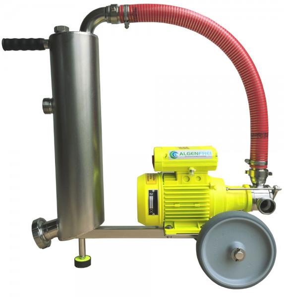 Impeller Schlammsauger mit Edelstahl Steinabscheider 5m3 Pumpleistung pro Stunde