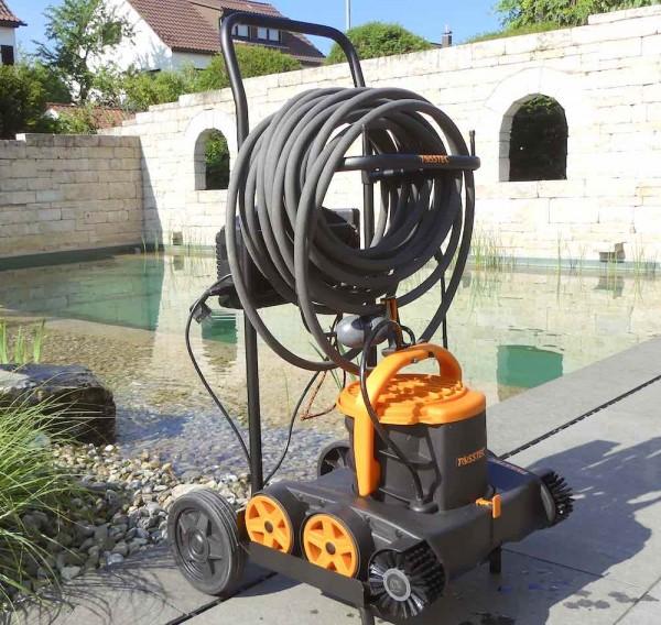 Tosstec Poolroboter TT-RB-SET - Modular & multifunktional als schwimmender Schwimmteich Roboter, Poolreiniger